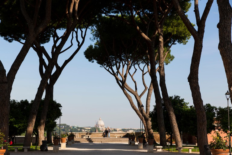 The romantic Orange Garden offers one of the most picturesque views of Rome