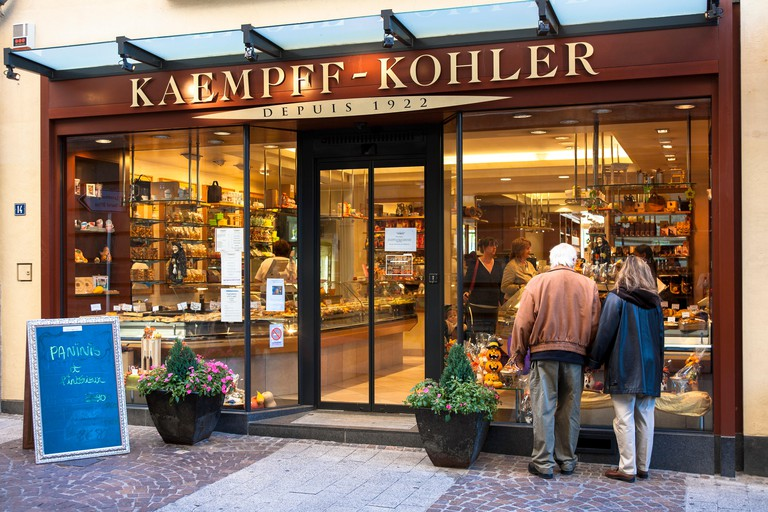 LUX, Luxembourg, city of Luxembourg, delicatessen store Kaempff-Kohler at the Grand-Rue.LUX, Luxemburg, Stadt Luxemburg, Feink