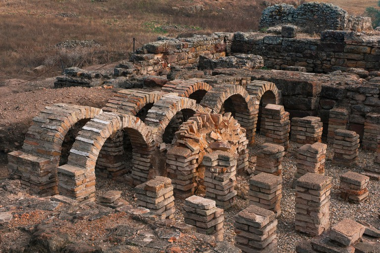 Roman Iberian city of Castulo, Thermal baths, Linares, Jaen province, Region of Andalusia.