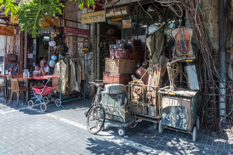 Palestina shop in shuk hapishpeshim flea market, Tel Aviv, Israel