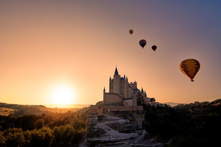 Alcázar de Segovia, Sunrise.