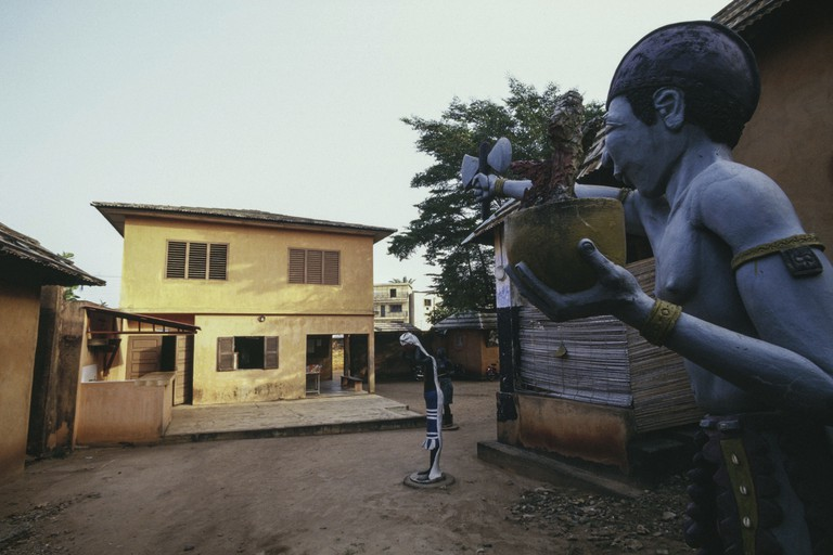 Statue in King Toffa's Palace, Porto-Novo
