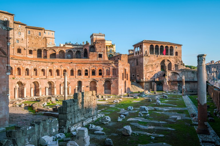 The Trajan's Market in the afternoon in Rome, Italy.