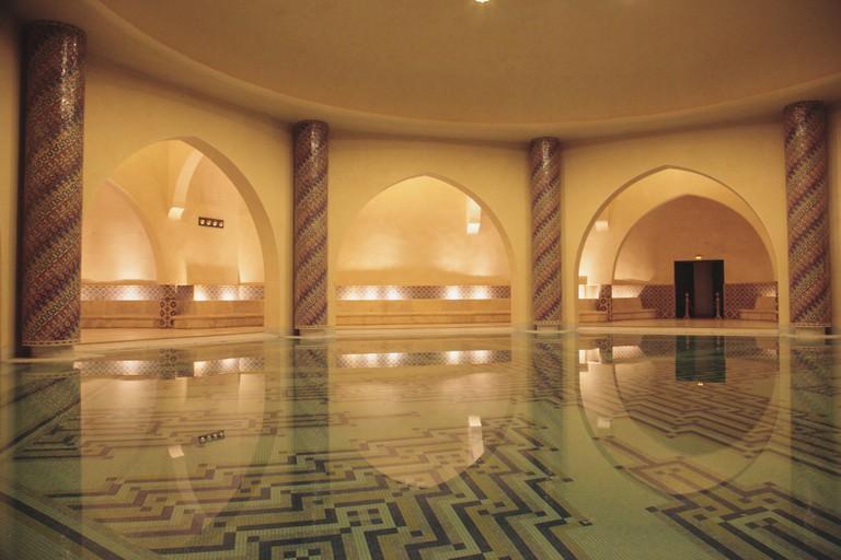 Interior of the Hammam (Baths), Mosque Hassan II, Casablanca, Morocco