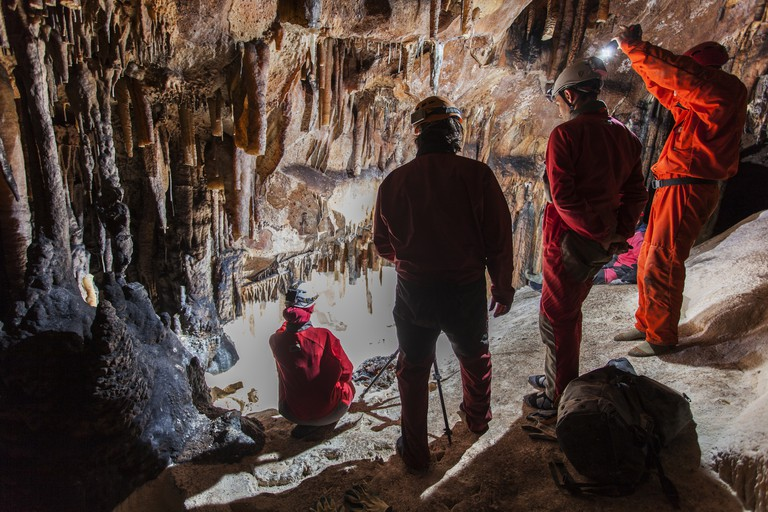 Photographing caves