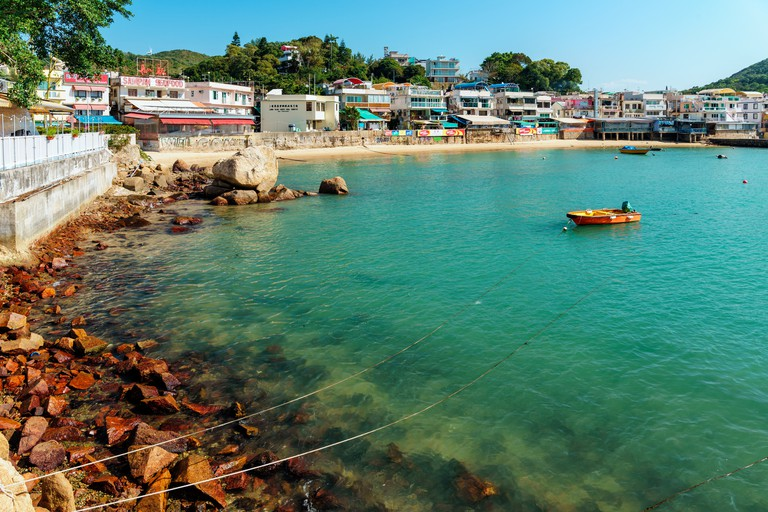 Yung Shue Wan village on Lamma Island, Hong Kong
