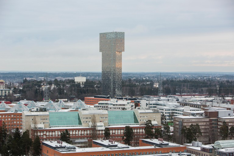 View from Kista Tower, Sweden.