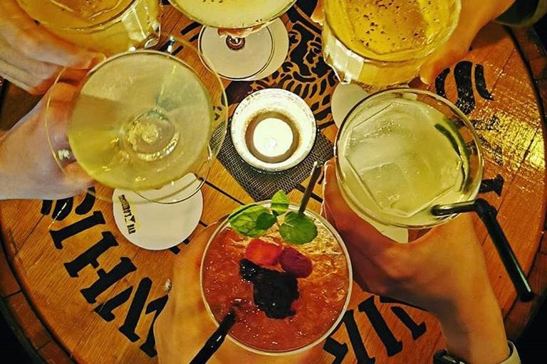 Enjoy a cocktail at Toshiro's Bar