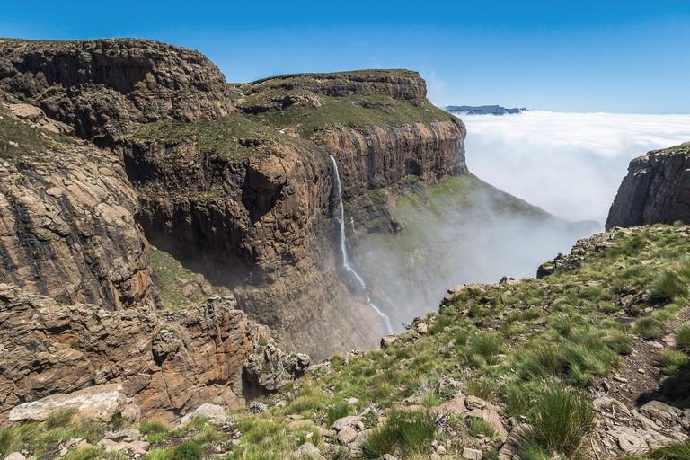 Tugela falls at the top of Sentinel Hike, Drakensberge