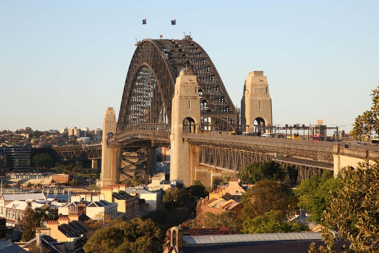 View of Sydney Harbour Bridge from Observatory Hill Rotunda in Observatory Hill Park, 1001 Upper Fort St, Millers Point NSW 2000