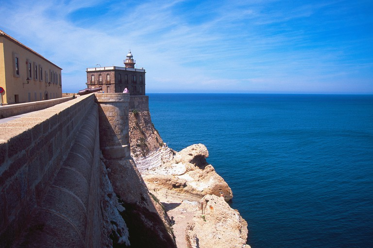 Lighthouse and viewpoint. Melilla La Vieja, Melilla, Spain.