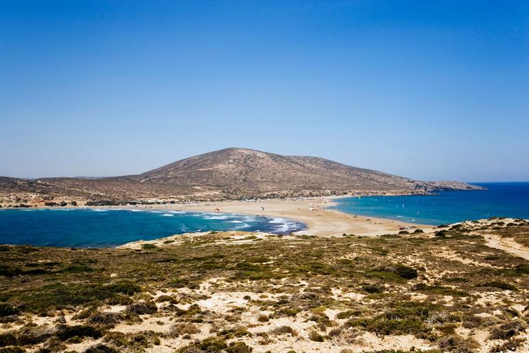 View over Prasonisi Beach, Prasonisi, Rhodes, Greece