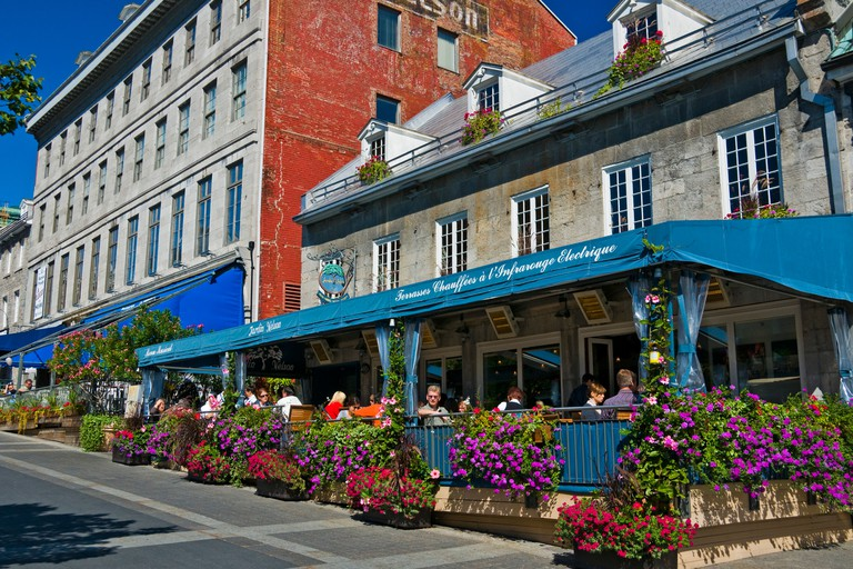Restaurants Place Jacques Cartier Old Montreal canada