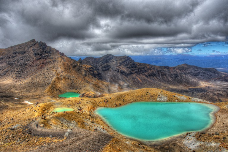 Emerald Lakes on the Tongariro Alpine Crossing