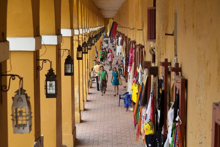 Tourist shops, Plaza de las Bovedas, Cartagena, Colombia