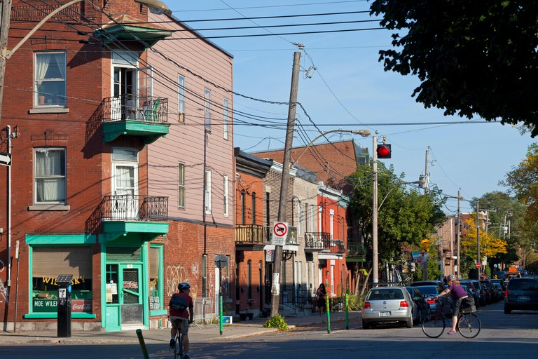 Canada, Quebec Province, Montreal, Mile End, famous jewish restaurant Wilensky's Light Lunch with the green front