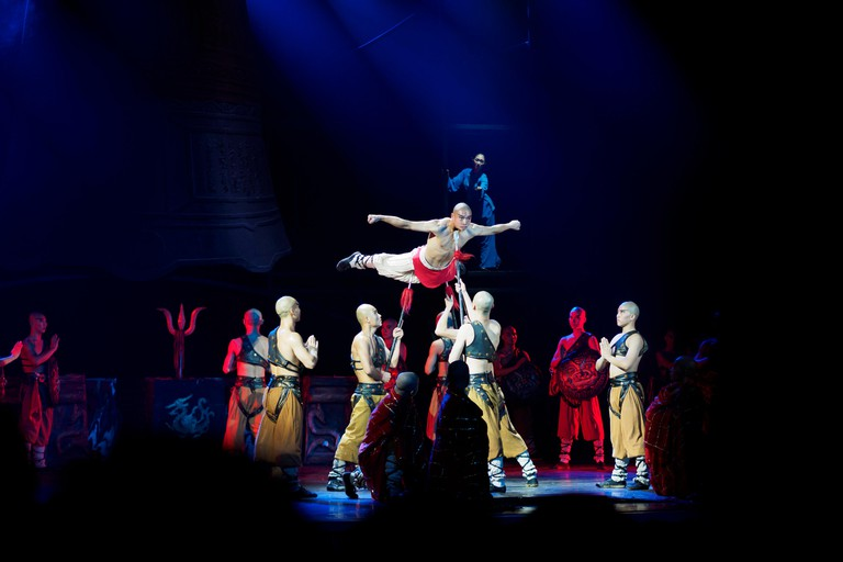 Kung fu show at the Red Theatre in Beijing, China