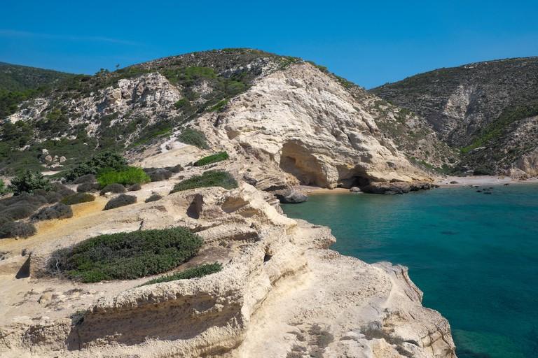 Fourni beach, Rhodes, Dodecanese, Greece