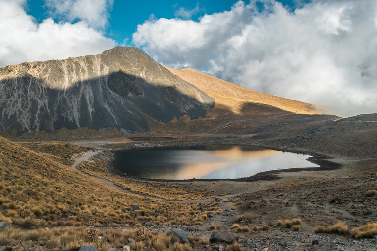 Lake inside the crater of Nevado de Toluca
