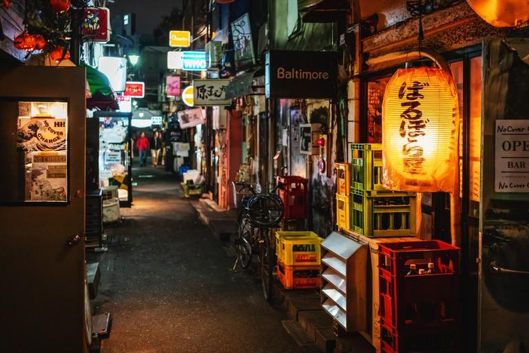 Golden Gai at Night Shinjuku Tokyo Japan