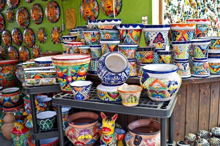 Mexican Potteryland with Talavera Pots