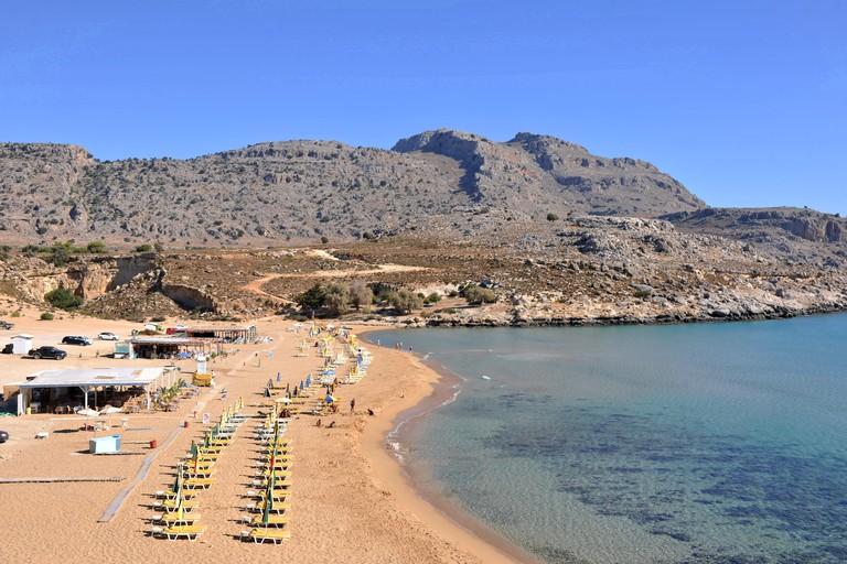 Greece, Rhodes, Charaki, Agathi beach