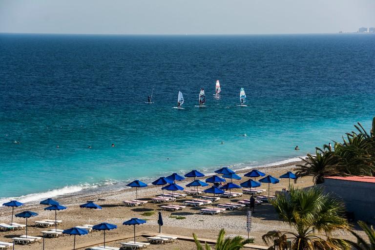 Rhodes, beach Ialyssos
