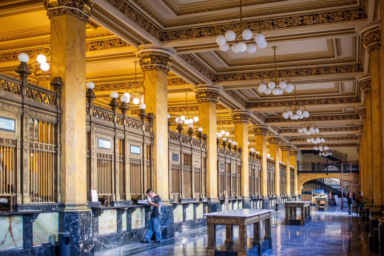 The Post Office Palace, Palacio de Correos, is one the most brilliant examples of the eclectic architecture of the the first years of the XXth Century