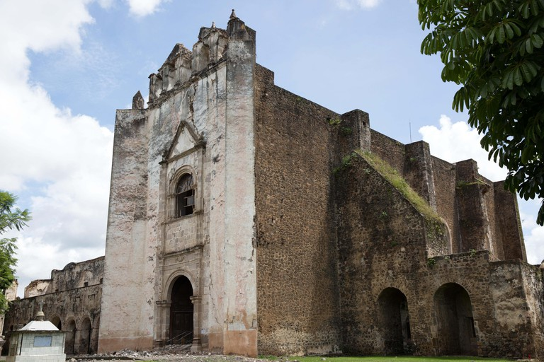 The Convent of San Juan Bautista heavily damaged by a 7.1 earthquake in Tlayacapan, Morelos state, Mexico on September 24, 2017.On September 19, 2017, a 7.1 magnitude earthquake rocked Central Mexico, killing more than 300 hundreds people and causing se