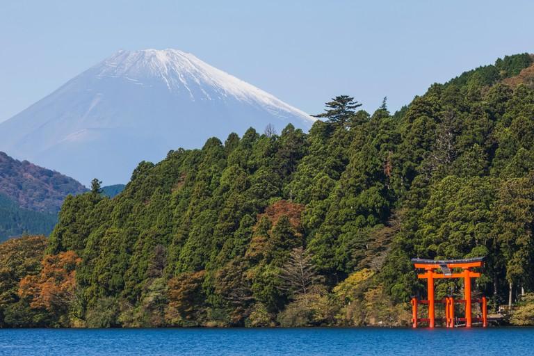 Lake Ashinoko and Mt.Fuji