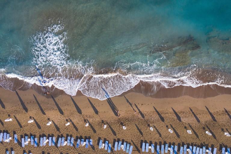 Greece, Rhodes, Faliraki, Coastal Landscape