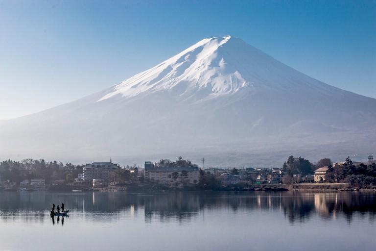 View of Mount Fujisan from Lake Kawaguchi
