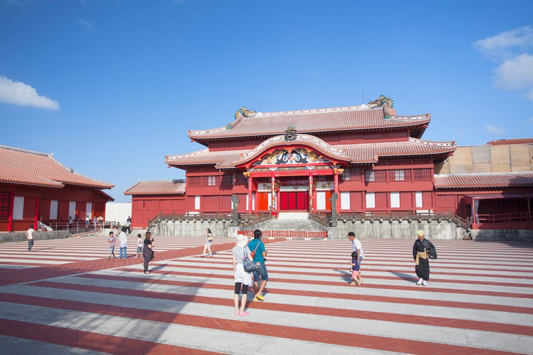 Shuri Castle, UNESCO World Heritage Site, Naha, Okinawa, Japan.