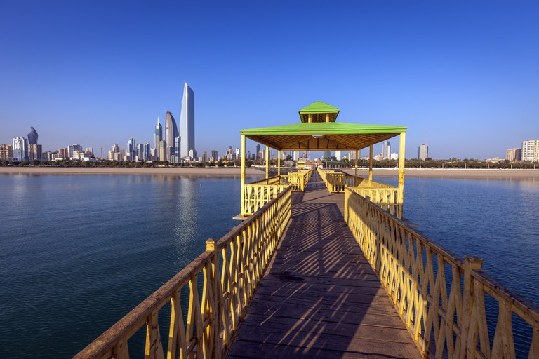Panorama of Kuwait City from the fishing pier