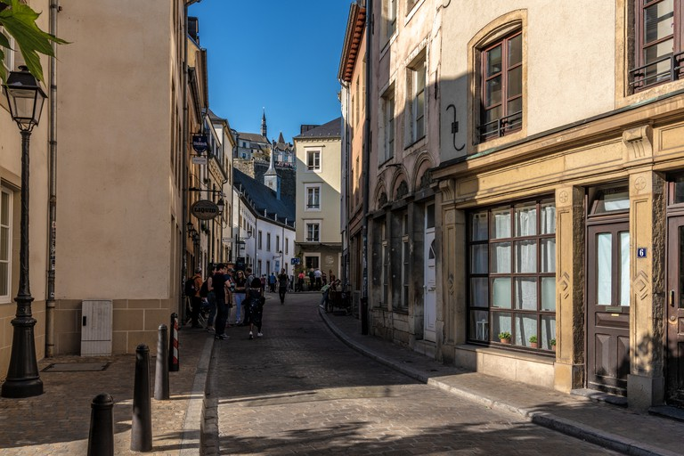 Old town street in Ville Haute