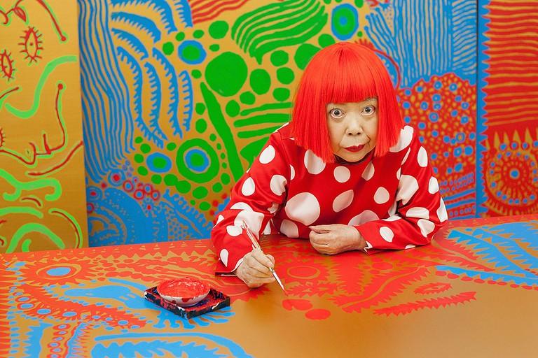 Portraits Of Japanese Artist Yayoi Kusama