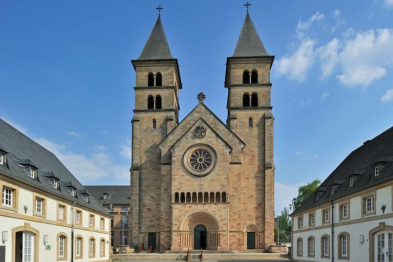 The basilica of Saint Willibrord at Echternach