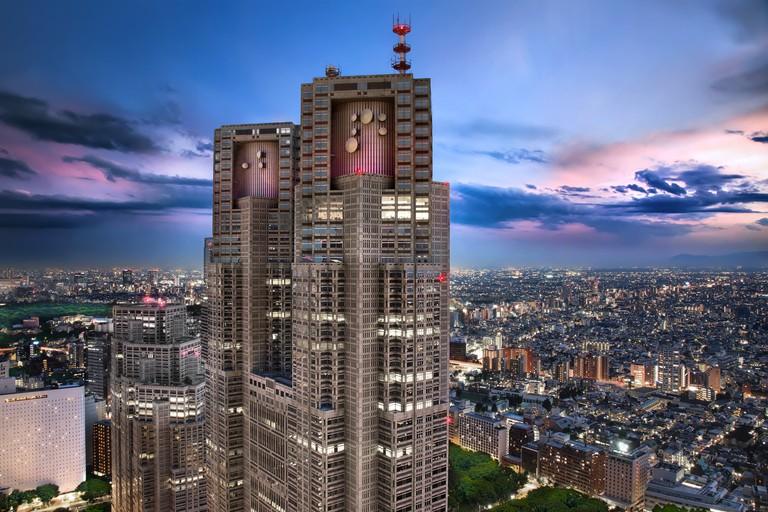 Tokyo Metropolitan Government Building in Twilight Hour