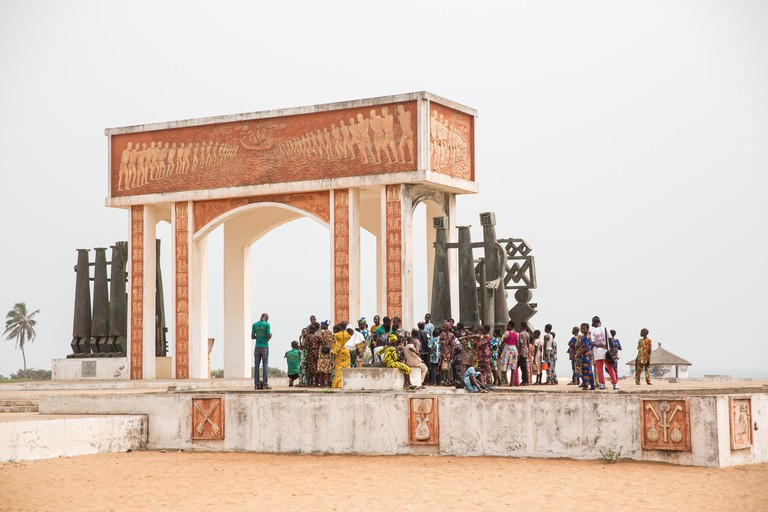 Memorial to slaves, Ouidah, Benin, Africa
