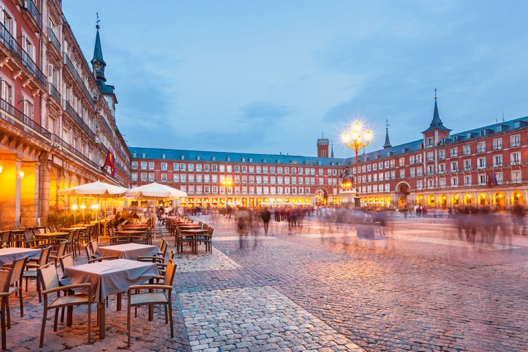 Plaza Mayor in Madrid Spain