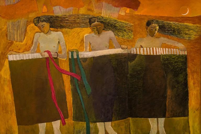 National Museum of Fine Arts, Painting from 1996, Hanoi, Vietnam