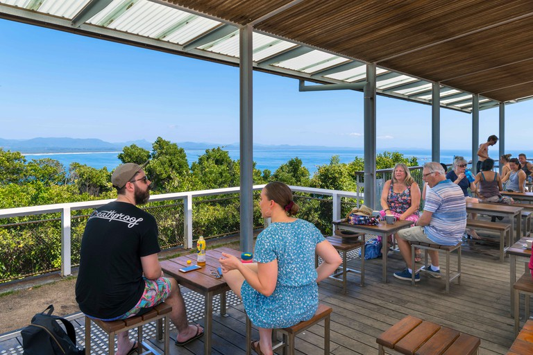 Cafe at Cape Byron Lighthouse, Cape Byron State Conservation Park, New South Wales, Australia