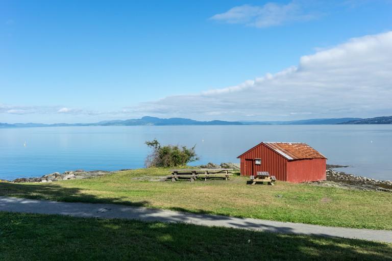 Hiking Trail on Peninsula Lade in Trondheim. Image shot 11/2018. Exact date unknown.