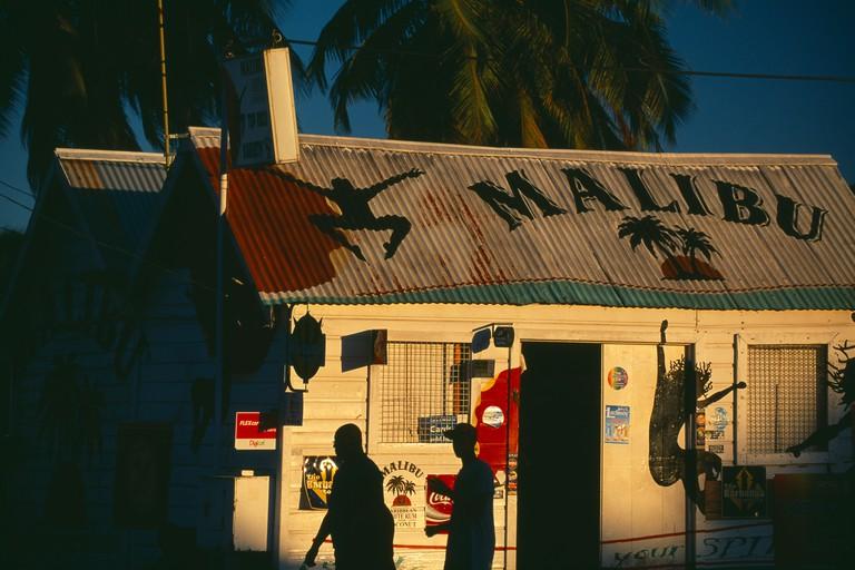 typical Bajan rum shop, nr St Lawrence, Barbados