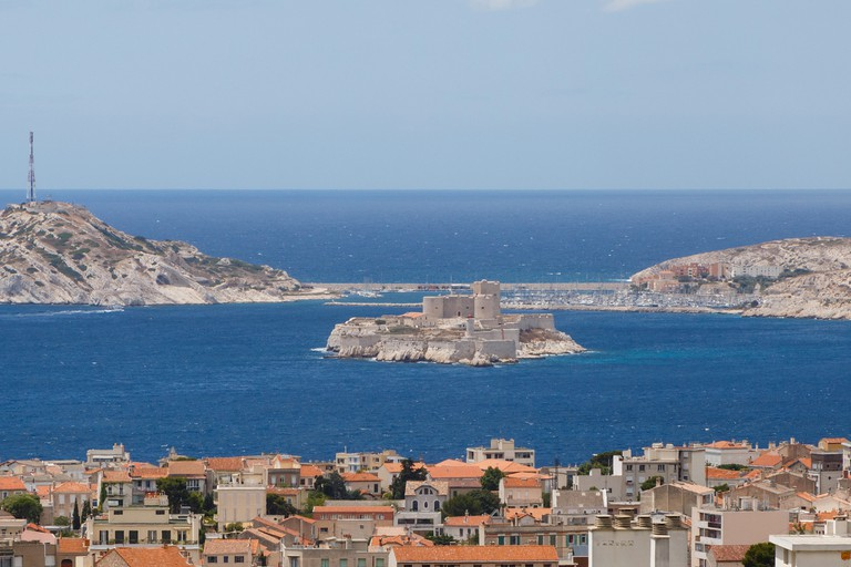 view on Château d'If from Marseille