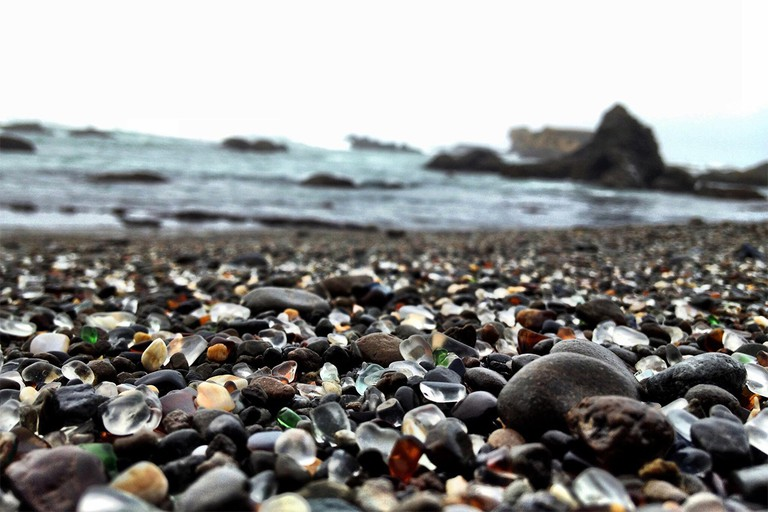 Glass Beach in Fort Bragg, Ca