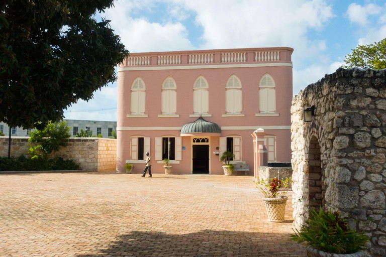 The Nidhe Israel Synagogue (synagogue of the Scattered Israel) in Bridgetown, Barbados - built in 1654, rebuilt 1831
