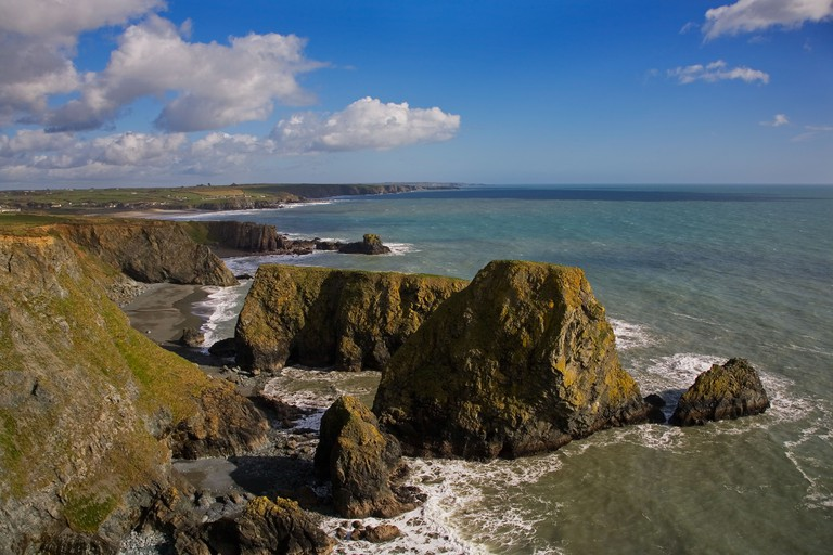 Coastal View to Tra na mBo, Bunmahon, The Copper Coast Geopark, County Waterford, Ireland