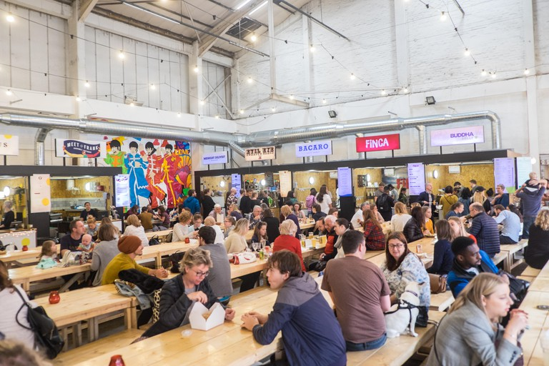 Baltic Market,food,stalls,space,nr,Cains Brewery,Baltic Triangle,trendy,development,Liverpool,city,Merseyside,England,British,GB,UK,U.K.,Europe,