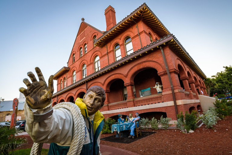 Key West, Florida. View of the Art & Historical Society. Set in a redbrick former customs office, this museum explores local art, culture & history.